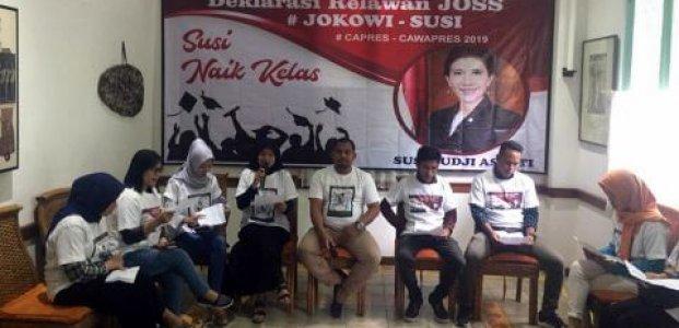 Relawan Joss Akan Mendukung Susi Pudjiastuti Sebagai Cawapres Joko Widodo