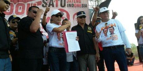 Sejumlah Ormas Di Jawa Tengah Mendeklarasikan Dukungan Terhadap Joko Widodo Di Pemilihan Presiden Tahun 2019
