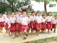 Jalan Antara Desa Sukamakmur Dengan Desa Riam Durian Kotawaringin Barat, Kalimantan Tengah Rusak
