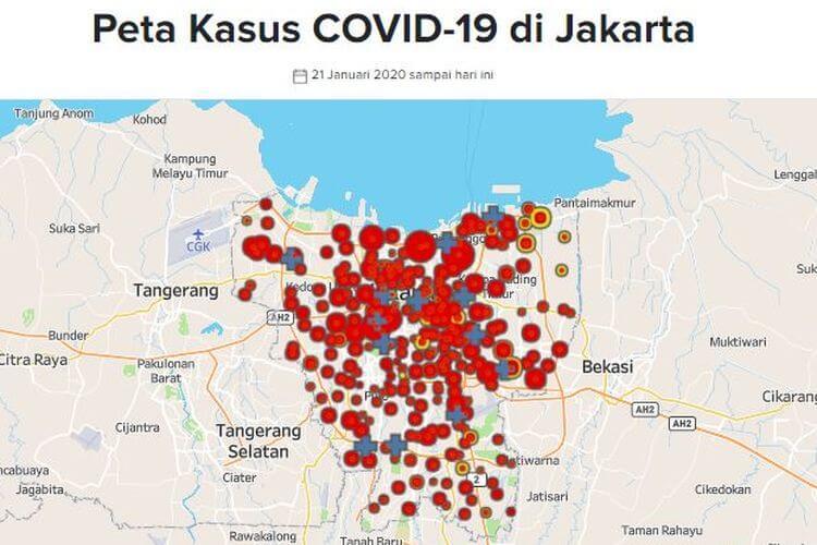 82 RW DI JAKARTA BERSTATUS ZONA MERAH COVID-19, INI LOKASINYA